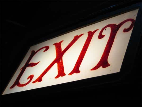 Exit sign-why do good clients leave?