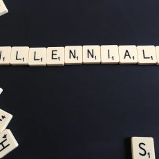millennials spelled out in scrabble letters