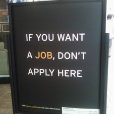 If you want a job, don't apply here