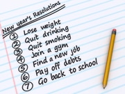 photo of a list of new years resolutions
