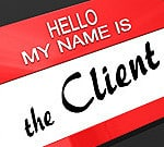 Client name tag