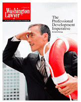 Washington Lawyer Magazine Cover