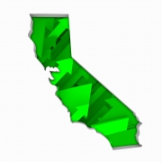 California CA Arrows Map Growth Increase On Rise