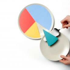 compensating law firm associates-concept of pie chart one segment being served